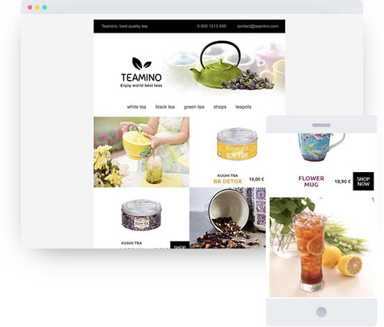 Example of an online shop