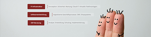 Screenshot from website IT service