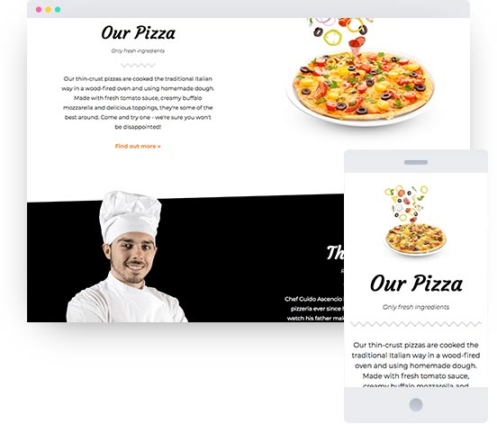 MyWebsite template for Italian restaurant