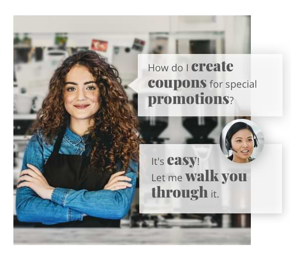 Personal consultant helps with eCommerce website