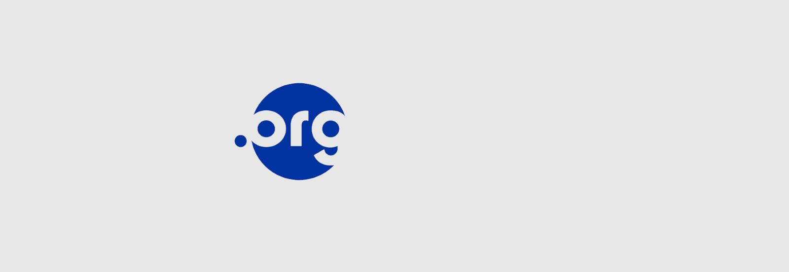El logo de .org sobre fondo gris