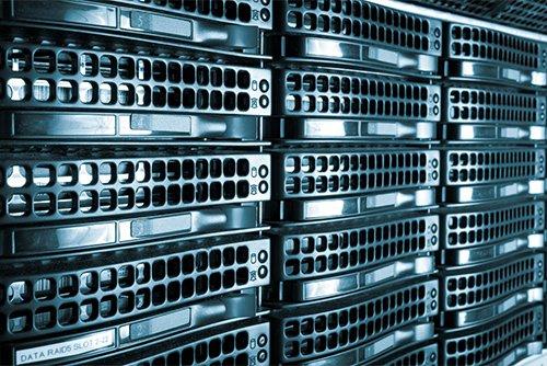 Black server rack