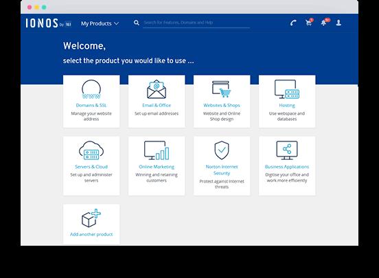 Screenshot from an IONOS customer account