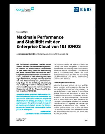 Núcleo del documento; Titular: Máximo rendimiento y estabilidad con la Nube Empresarial de 1&1 IONOS