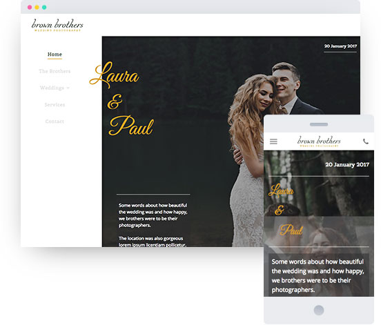 MyWebsite template for wedding website