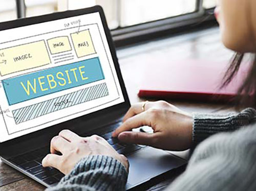image of building a website