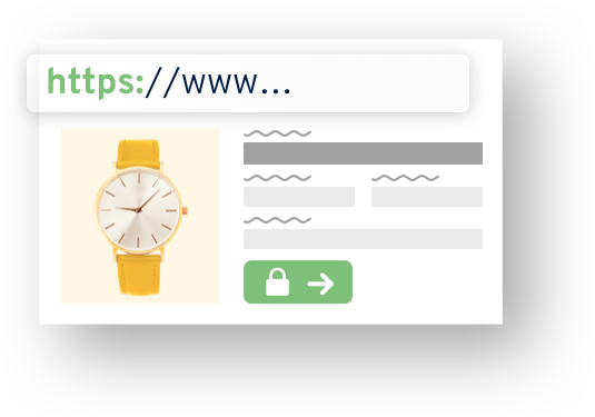 Graphical website: An online store that is selling watches