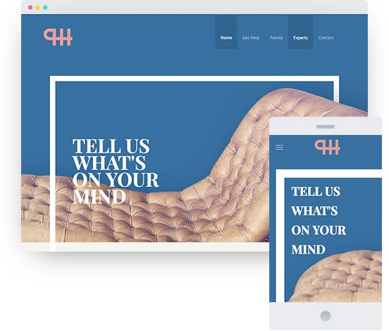 MyWebsite template for therapist website