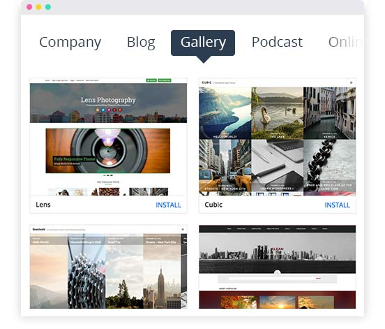 WordPress picture gallery; Photography template