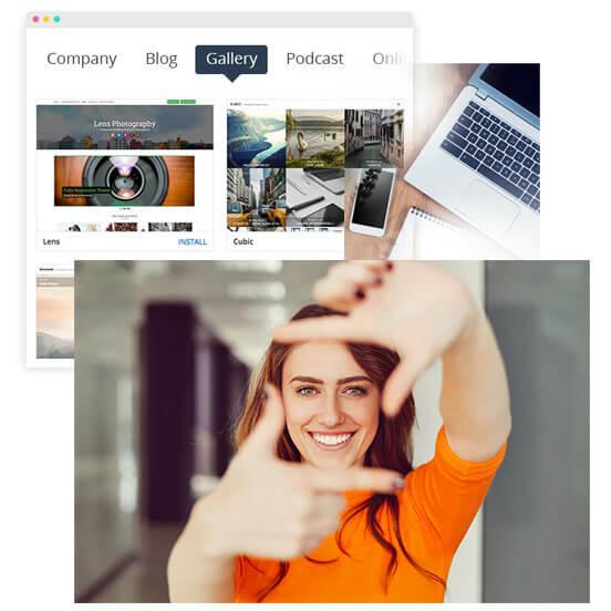 WordPress design theme focusing on photography gallery