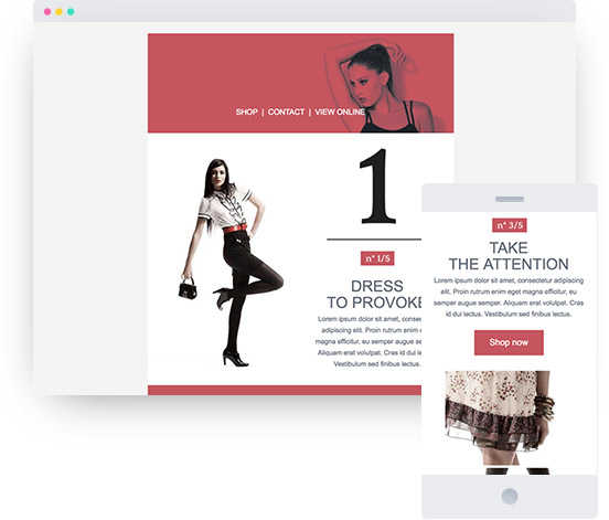 MyWebsite template for a fashion website