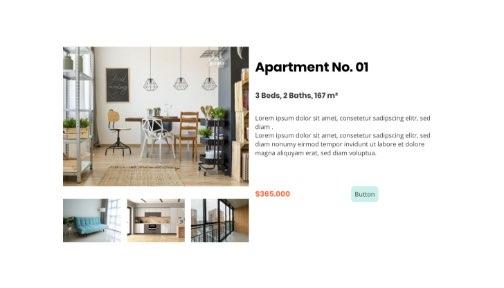 Screenshot from a real estate agencies website