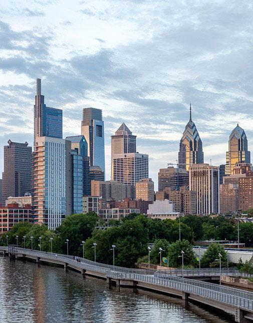 skyline of Philadelphia