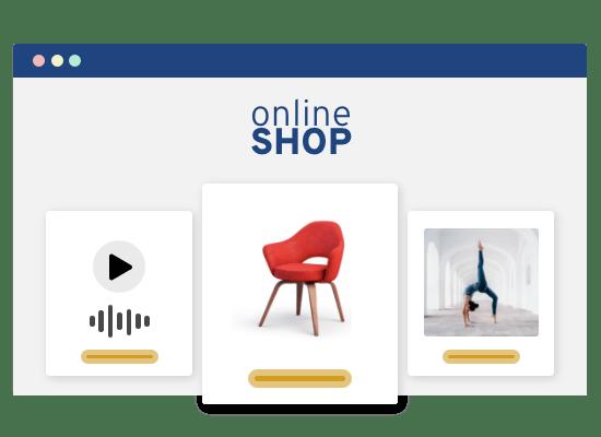Verkaufe Services, Digitale und physische Produkte