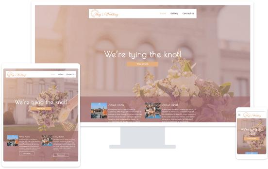 MyWebsite wedding website template